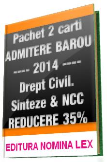 Pachet DREPT CIVIL pentru EXAMENUL de ADMITERE in BAROU, 2014 | REDUCERE 35%