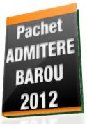 "Pachet ""Admitere Barou"" (2010-2011)"