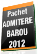 Promo! Pachet 8 carti utile pentru examenul de ADMITERE IN BAROU 2012
